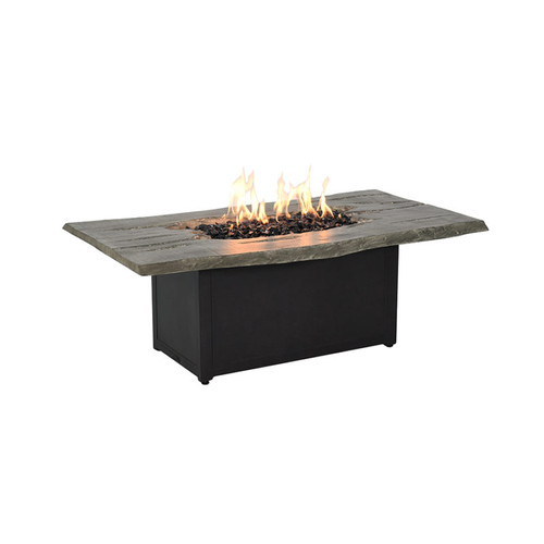 """Live Edge 36"""" x 52"""" Coffee Table Fire Pit"""