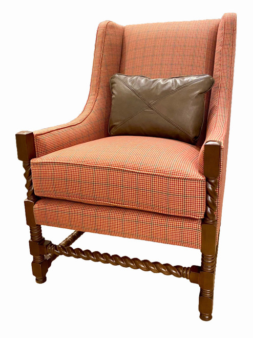Lodge Accent Chair with Kidney Pillow