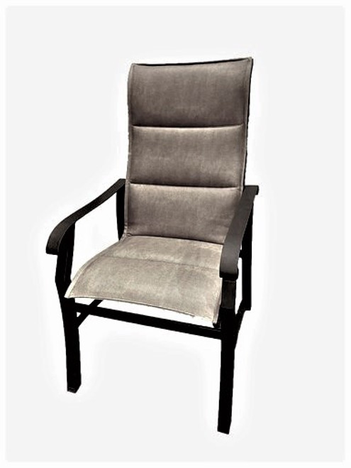 Cortland - Padded Sling High Back Dining Chair, Greige