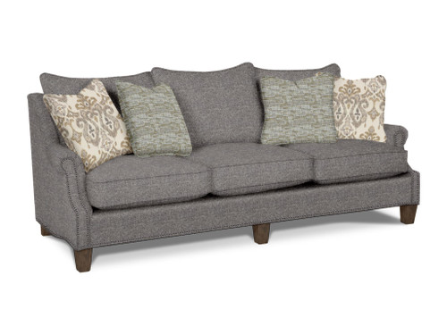 """Country Home 94"""" Sofa with 4 Toss Pillows"""
