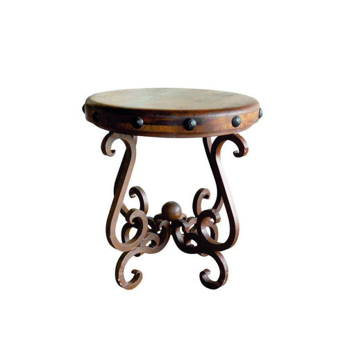 """Mesquite Top 24"""" Round Side Table"""