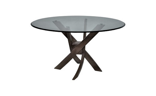 """Valeria 48"""" Round Glass Top Dining Table"""