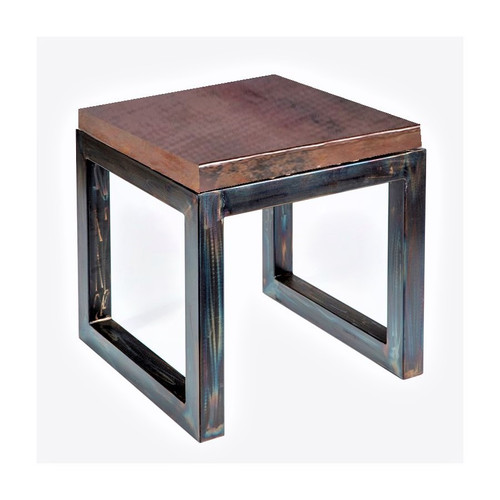 Chester - Side Table with Dark Brown Copper Top