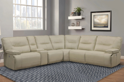 Spartacus 5-Piece Reclining Sectional, Oyster