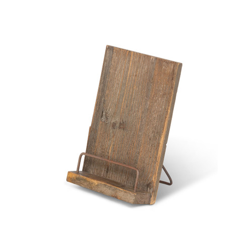 Aged Wooden Cookbook Stand