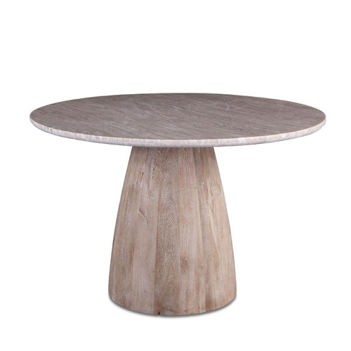 """48"""" Round Marble Top Dining Table"""