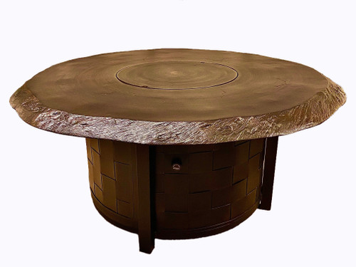 "Classical - 49"" Round Cast Coffee Table with Fire pit"