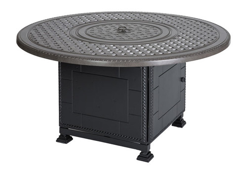 "Grand Terrace - 54"" Round Dining Height Fire Pit"