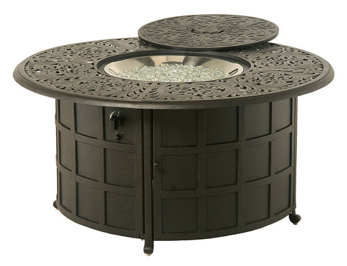 "Chateau - 54"" Round Counter Height Fire Pit with Burner"
