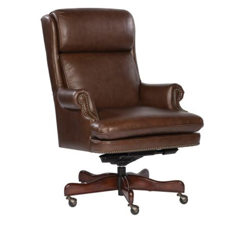 Capitol - Executive Leather Desk Chair, Coffee