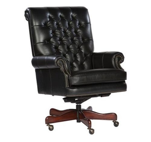 Capitol - Executive Leather Desk Chair, Black/Tufted