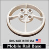 SRC 360 MOBILE SAFETY RAIL BASE PLATE - GALVANIZED
