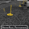 The Never Rust Warning Line system is perfect for flat roof fall protection visual warning needs. In general industry, OSHA requires that these systems be setup 15 feet from the roof edge or fall hazard. Anything closer to the edge than 15' will require that use fall protection devices such as our SRC 360 Mobile Safety railing systems.