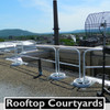 ROOFTOP COURTYARD GUARDING WITH SRC 360 SAFETY RAILING