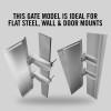 "Self-Closing Gate For Flat Bar or Wall Mount 26-32"" (Stainless Steel)"