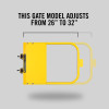 "Self-Closing Gate For Flat Bar or Wall Mount 26-32"" (Safety Yellow)"