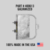 """Self-Closing Gate for Square or Round Post Mount 16-22"""" (Galvanized)"""