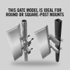 "Self-Closing Gate for Square or Round Post Mount 23-29"" (Stainless Steel)"