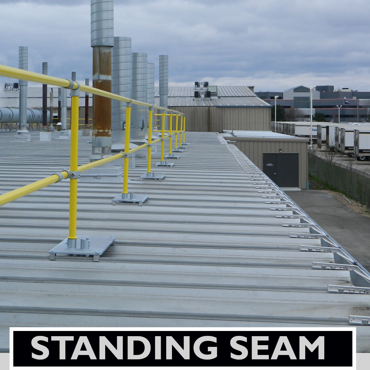 ACCU-FIT GUARDRAIL FOR STANDING SEAM METAL DECKS - Safety