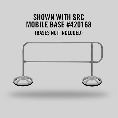 MOBILE FINISH SAFETY RAIL - 9FT - GALVANIZED
