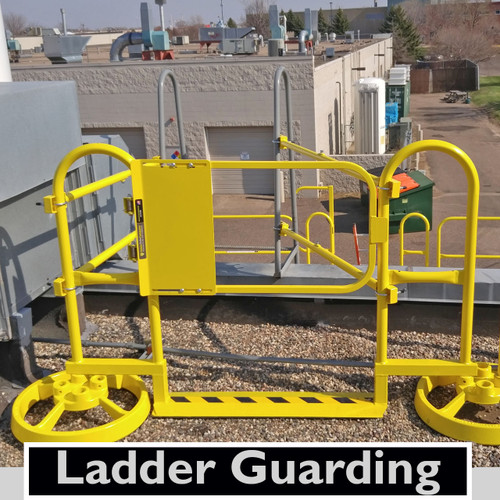 ROOFTOP LADDER GUARDING WITH SRC360 MOBILE SAFETY RAILING