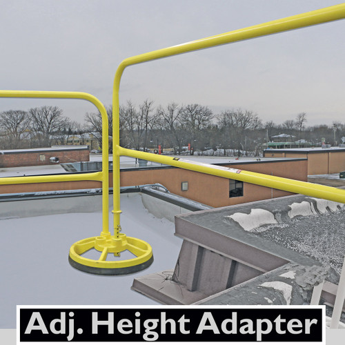 ADJUSTABLE HEIGHT ADAPTER FOR SRC 360 MOBILE SAFETY RAILING