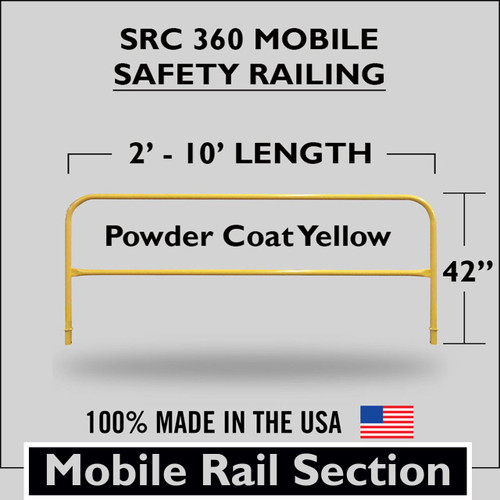 SRC 360 MOBILE RAILING SECTION YELLOW