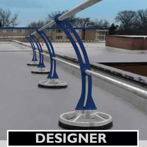 ACCU-FIT MOBILE GUARDRAIL WITH DESIGNER CURVED STANCHIONS