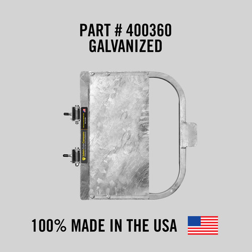 """Self-Closing Gate For Flat Bar or Wall Mount 16-22"""" (Galvanized)"""