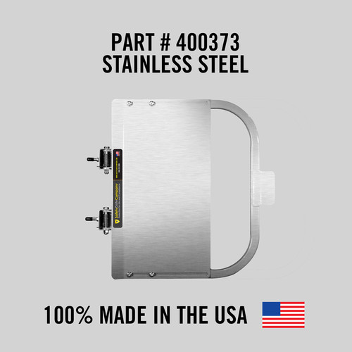 """Self-Closing Gate For Flat Bar or Wall Mount 19-25"""" (Stainless Steel)"""