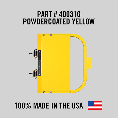 """Self-Closing Gate For Flat Bar or Wall Mount 26-32"""" (Safety Yellow)"""
