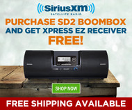 Buy the SXSD2 Boombox and Get a Free Xpress EZ Receiver!