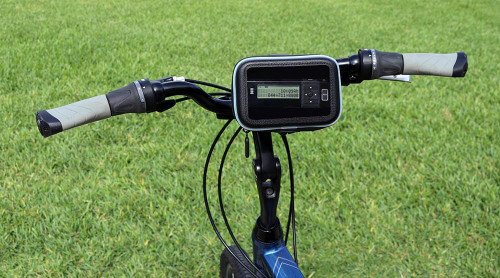 Motorcycle and bike kit for satellite radio with AGT receiver and rechargable battery pack