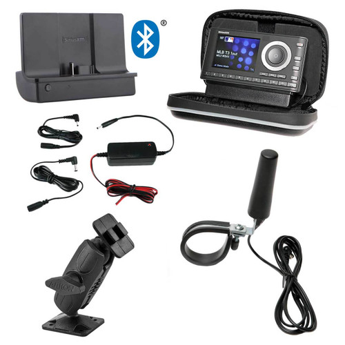 SiriusXM UTV Bluetooth Installation Kit with Onyx Plus Receiver. Perfect for Polaris RZR and other UTV Off-road vehicles.