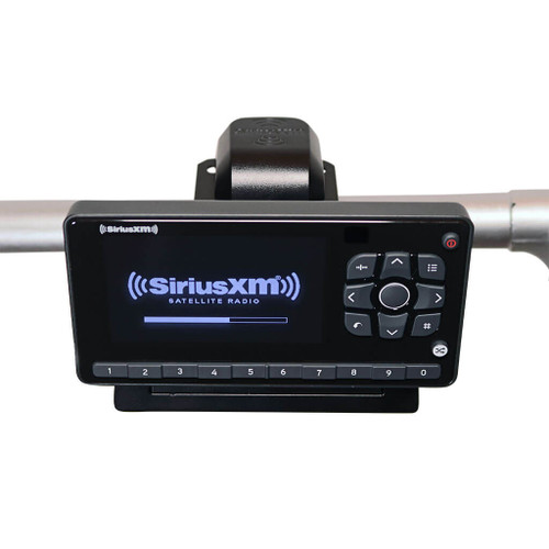 Onyx EZR satellite radio motorcycle with receiver, power accessories, magnetic antenna, handlebar mount and AUX cable