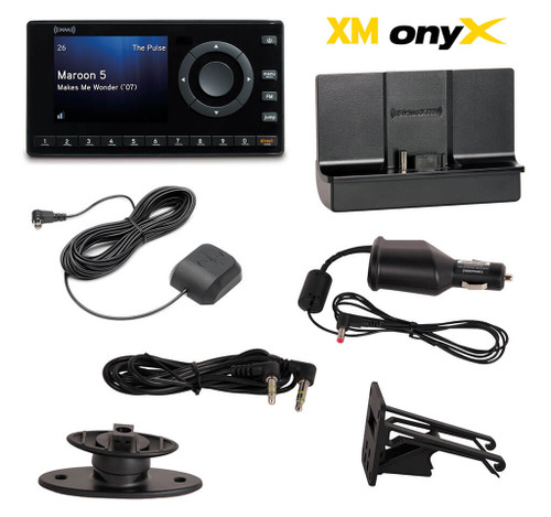 XM OnyX Satellite Radio Dock and Play Receiver with Vehicle Kit