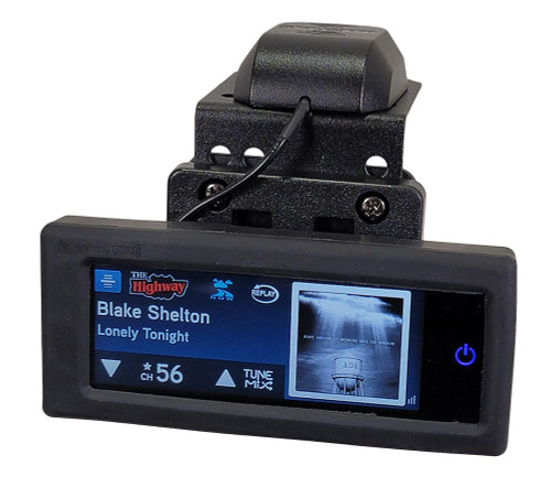 SiriusXM Radio CommanderTouch Motorcycle Kit with Rubber Wrap and Compact Mount