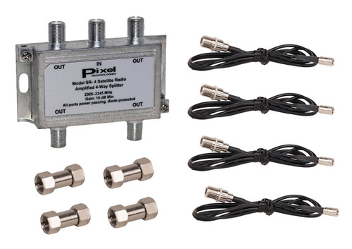 SRCS4WSK SiriusXM Satellite Radio 4-Way Amplified Splitter Kit