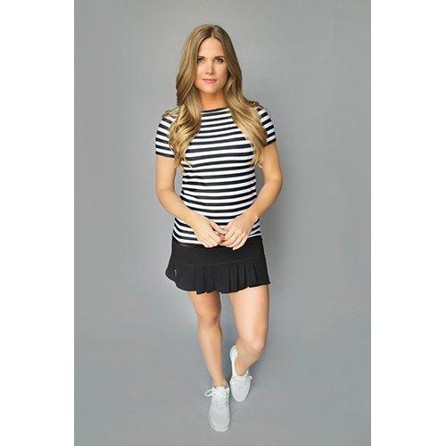 dc64c7b680d Women s Golf Clothes FlirTee Golf Front Back Pleated Golf Skirt - Black