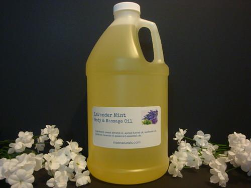 Lavender Mint Body & Massage Oil 64oz/Half Gallon Jug