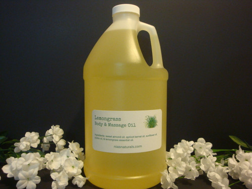 Lemongrass Body & Massage Oil 64oz/Half Gallon Jug