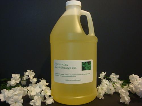 Peppermint Body & Massage Oil 64oz/Half Gallon Jug