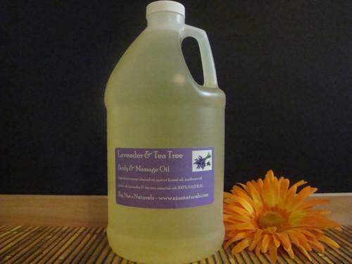 Lavender & Tea Tree Body & Massage Oil 64oz/Half Gallon Jug