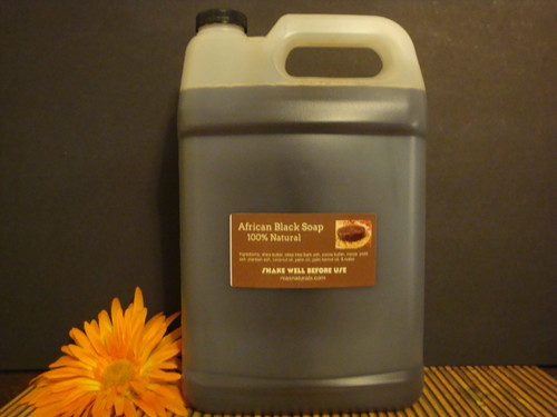 100% NATURAL RAW LIQUID AFRICAN BLACK SOAP 128 OZ /1 GALLON FREE SHIPPING