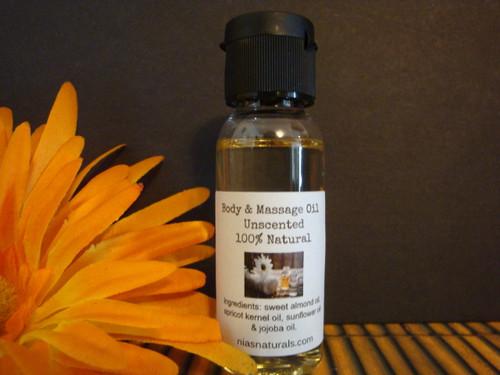 1oz Unscented/Fragrance Free  Body & Massage Oil
