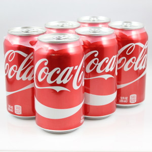Coca-Cola - 12 Fl. Oz. Cans - 6 Pack
