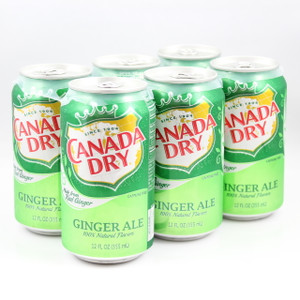 Canada Dry Ginger Ale - 12 Fl. Oz. Cans - 6 Pack