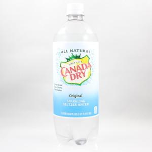 Canada Dry - Original Sparkling Seltzer Water - 1 Liter Bottle