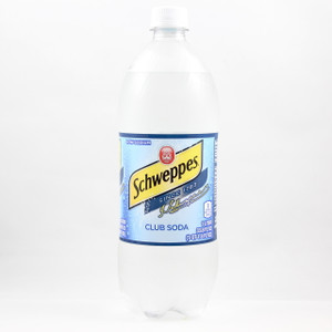 Schweppes Club Soda - 1 Liter Bottle