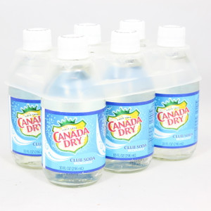 Canada Dry - Club Soda - 10 Fl. Oz. Bottles - 6 Pack